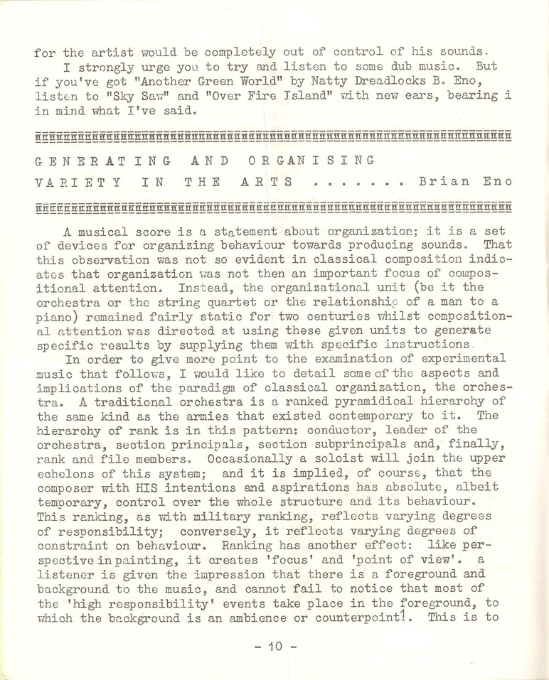 Enovations Newsletter 1977 (page 10)