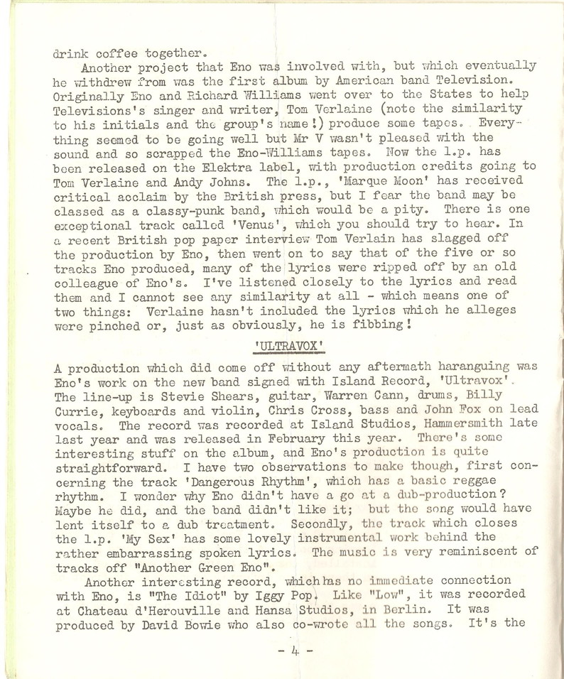 Enovations Newsletter 1977 (page 4)