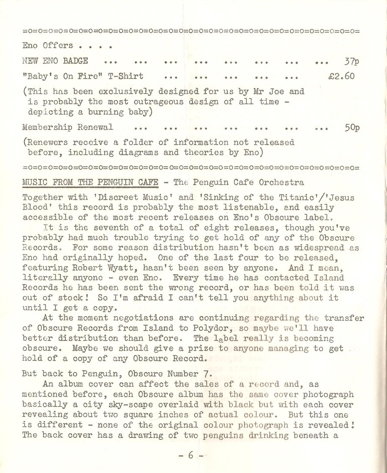 Enovations Newsletter 1977 (page 6)