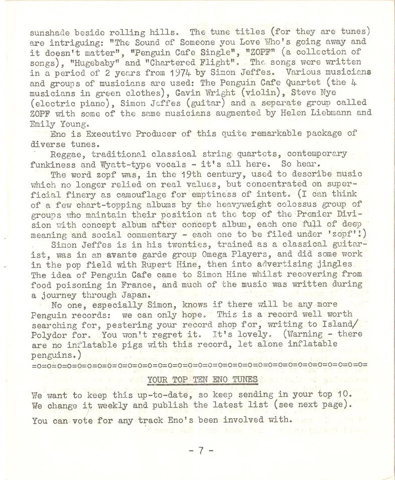 Enovations Newsletter 1977 (page 7)