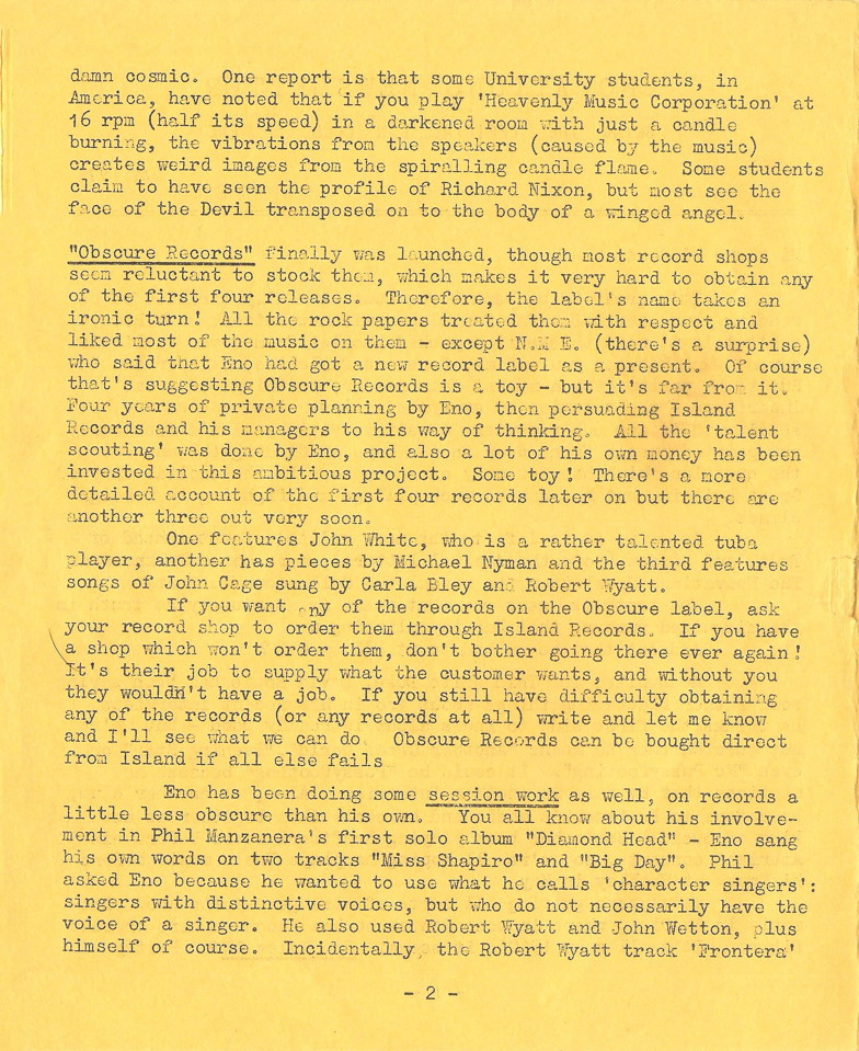 Enovations Newsletter May 1976 (page 2)