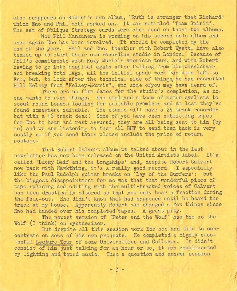 Enovations Newsletter May 1976 (page 3)