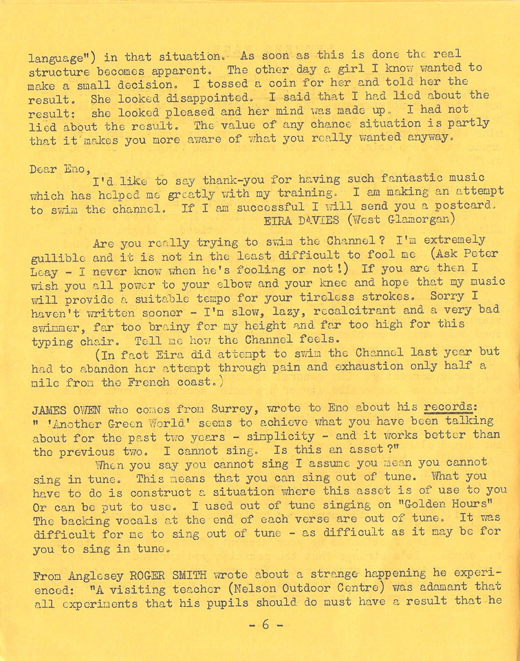 Enovations Newsletter May 1976 (page 6)