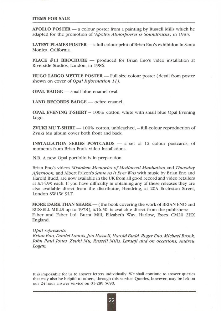 Opal Information: Number 13 (page 22)