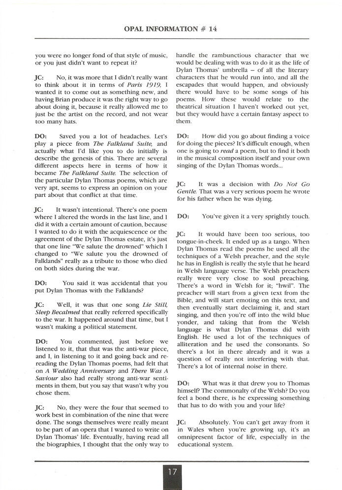 Opal Information: Number 14 (page 17)