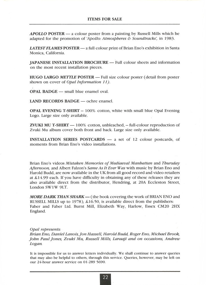 Opal Information: Number 14 (page 22)