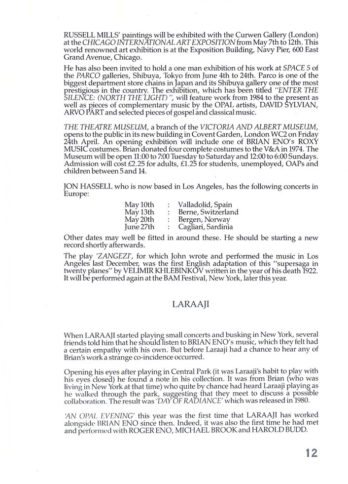 Opal Information: Number 4 (page 12)